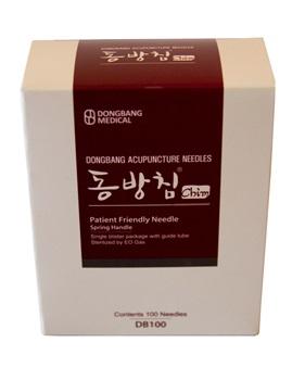 Mango Coreano Dong Bang 0,30 mm X 40 mm 1 Aplicador X Aguja Caja X 100