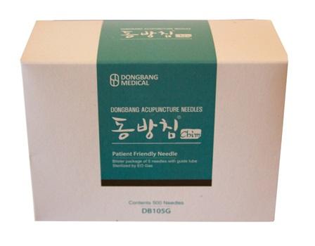 Mango Coreano Dong Bang 0,30 mm X 30 mm 1 Aplicador C/5 Agujas Caja X 500