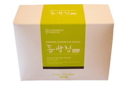 Mango Coreano Dong Bang 0,25 mm X 30 mm 1 Aplicador C/10 Agujas Caja X 1000
