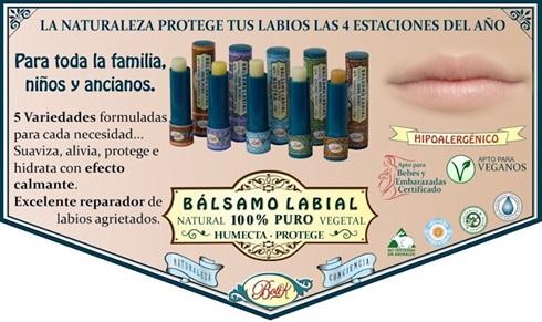 Balsamo Labial Jengibre+Menta+Damasco+Calendula