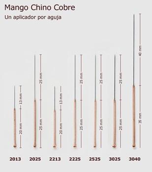 Mango Chino de Cobre Cloud & Dragon 0,25 mm x 25 mm 1 aplicador x aguja caja x 100