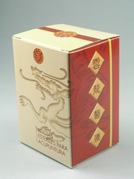 Mango Chino de Cobre Cloud & Dragon 0,30 mm x 25 mm 1 aplicador x aguja caja x 100